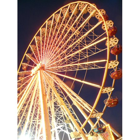 LAMINATED POSTER Theme Park Year Market Ride Fair Ferris Wheel Poster Print 11 x (Best Theme Park Ride Photos)