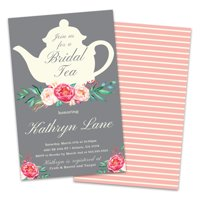 785990fbc10 Product Image Personalized Tea Time Bridal Shower Invitations