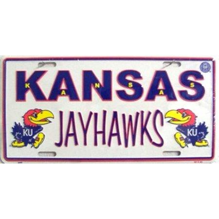 Kansas Jayhawks College License Plate