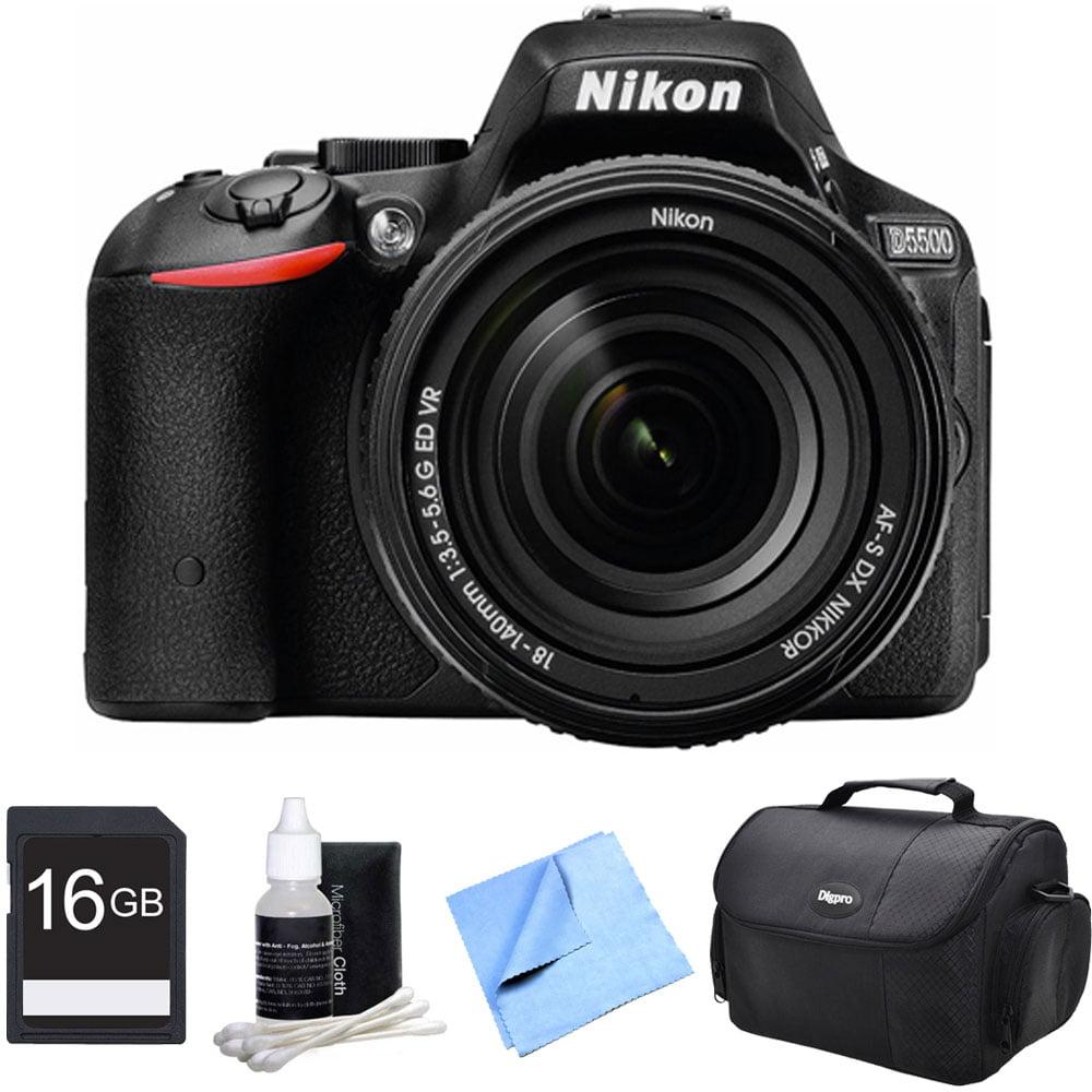 Nikon D5500 Black DSLR Camera 18-140mm Lens and 16GB Bundle