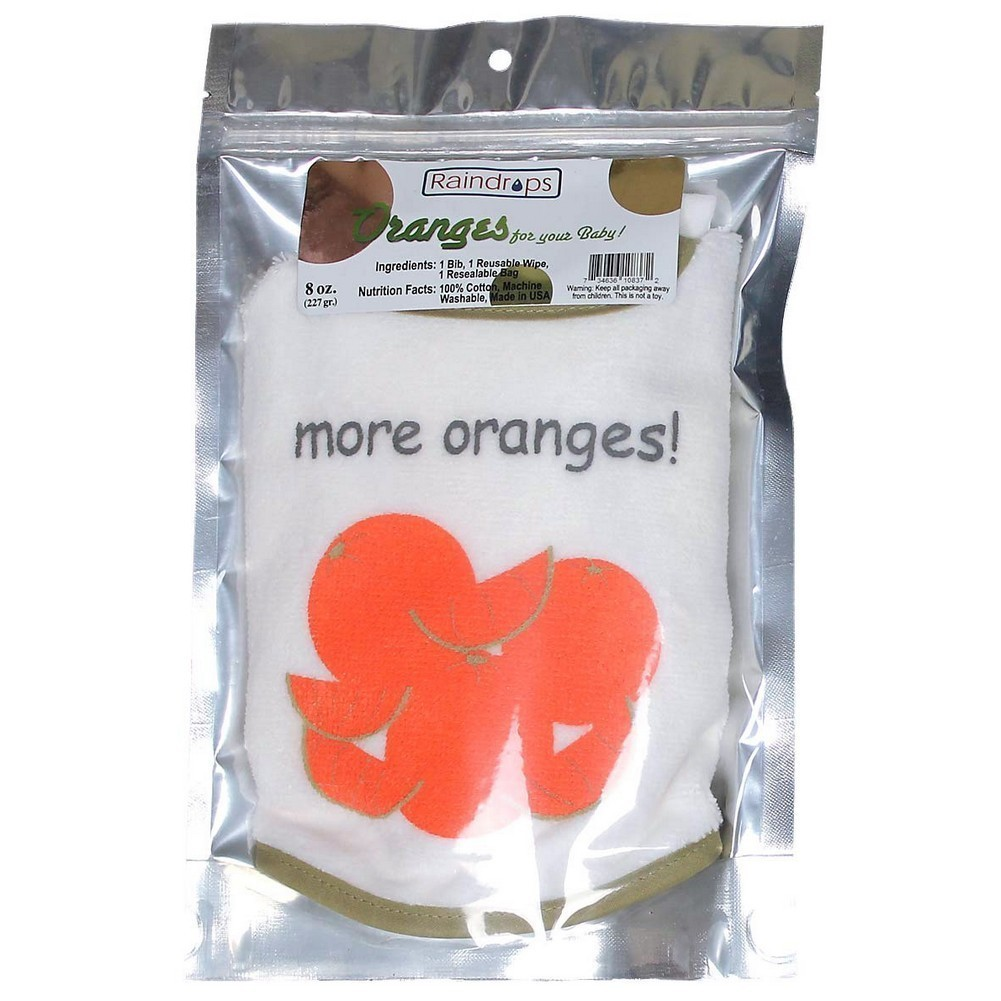 Raindrops Unisex Baby Bib-To-Go 3-Piece Gift Set, Oranges by Raindrops