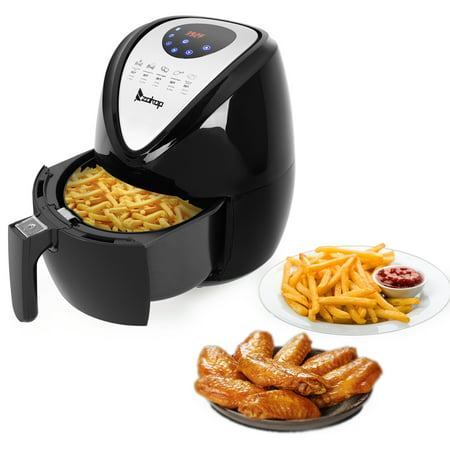 Clearance! Digital Air Fryer, 3.7QT 1500W Electric Hot Air Fryers Convection Oven Oilless Cooker with 7 Cooking Presets, Air Fryer Oil Free, Air Fryers for Kitchen, Multi-Functional Fryer, Black, W124