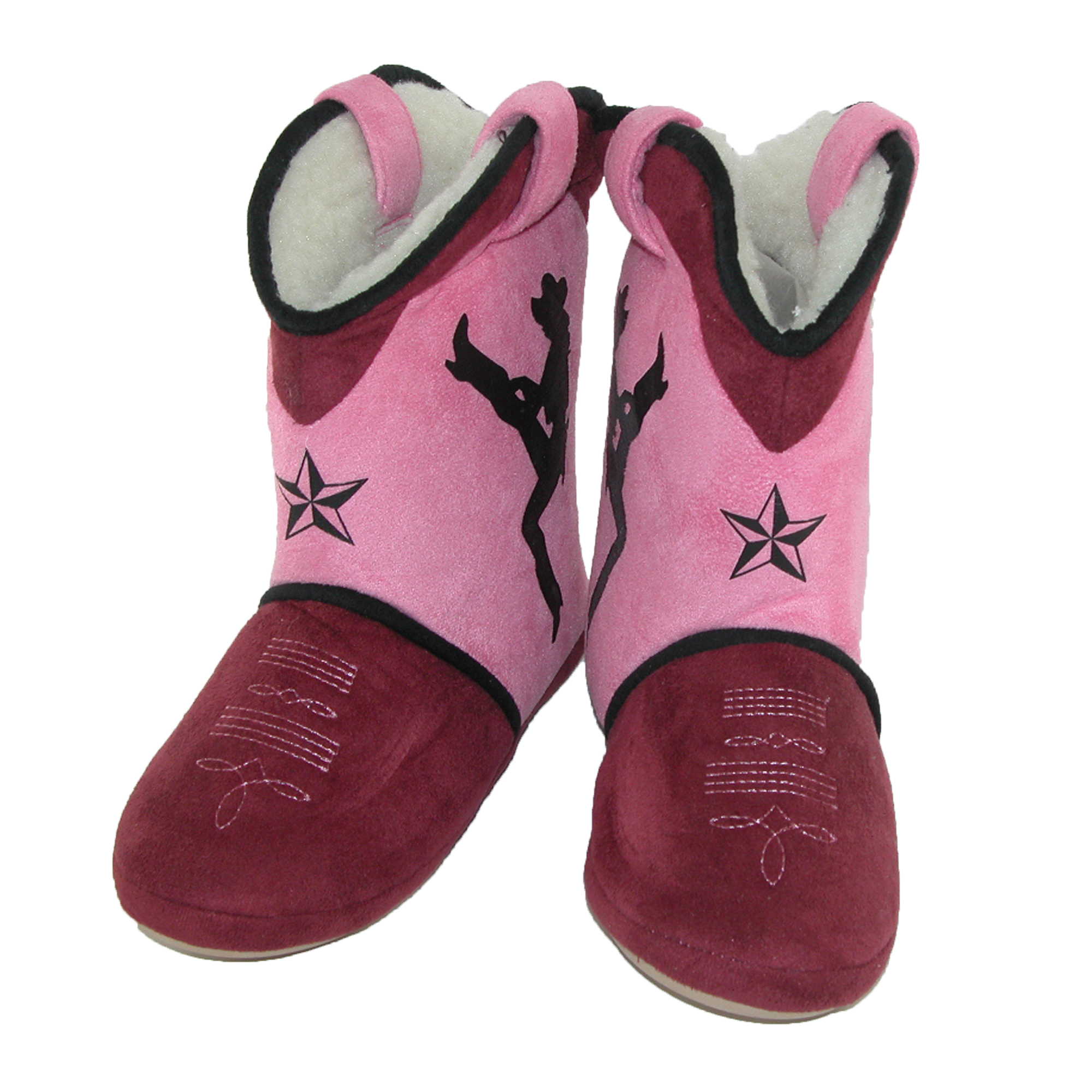 Cicciabella  Women's Dixie Darlin Cowgirl Boot Slippers