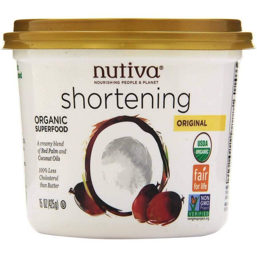 Nutiva Red Palm Coconut Shortening, Organic, 15 Ounce (Pack of 3)