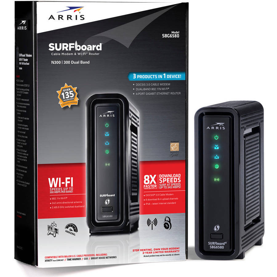 ARRIS SURFboard SBG6580 DOCSIS 3.0 Cable Modem/ N600 Wi-Fi Router
