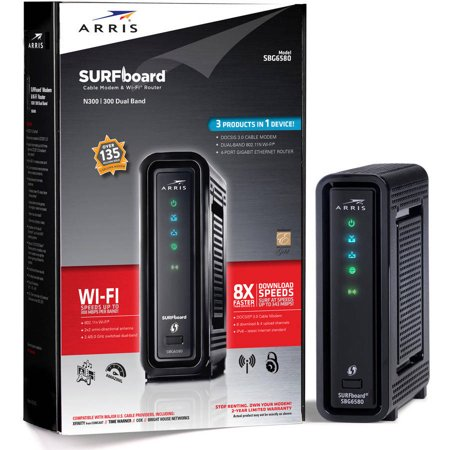 Arris Surfboard Sbg6580 Docsis 3 0 Cable Modem  N600 Wi Fi Router