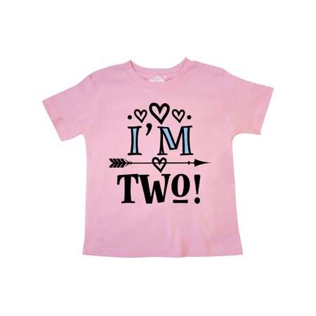 2nd Birthday 2 Year Old Arrow Toddler T Shirt