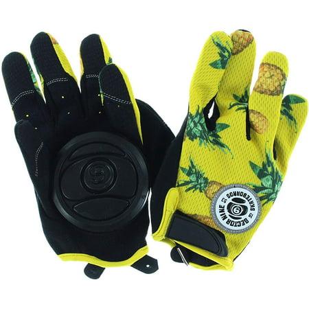 Rush Black / Yellow Slide Gloves - X-Large, SECTOR 9 RUSH SLIDE GLOVES XL-BLK/YEL By Sector 9 (Sector Nine Skate Gloves)