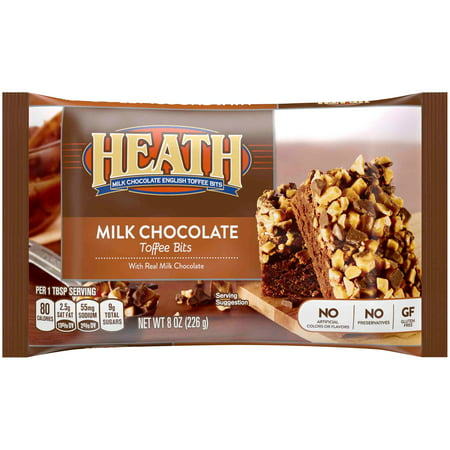 (2 Pack) Heath, Milk Chocolate English Toffee Baking Bits, 8 (English Toffee Bits)