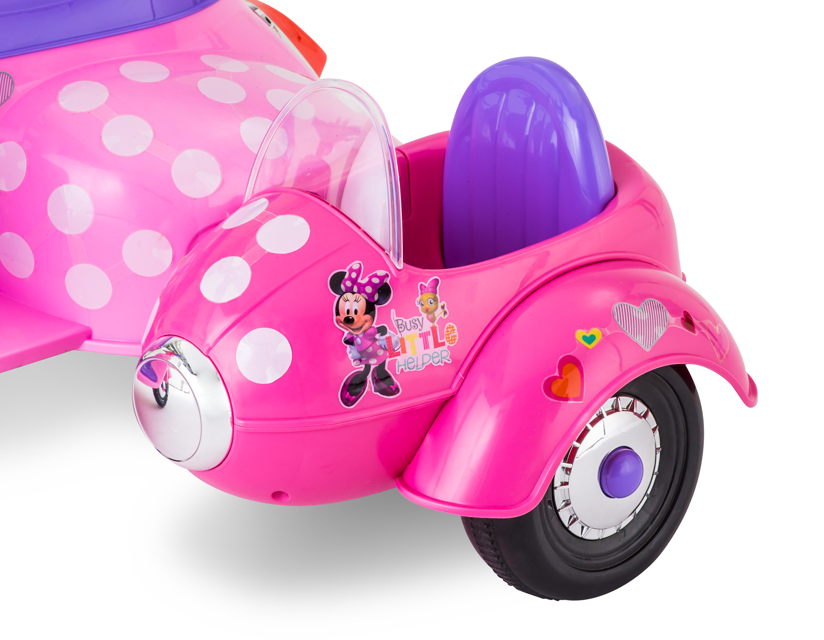 6 Volt Minnie Mouse Happy Helpers Scooter With Sidecar Ride On By