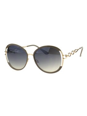 bef610a4d915 Product Image Womens Luxury Metal Chain Arm Round Diva Fashion Butterfly  Sunglasses Beige Gold Smoke