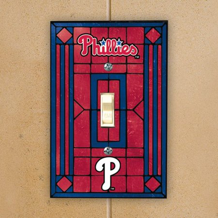 Philadelphia Phillies Art Glass Switch Plate Cover - No (Outlet Stores In Philadelphia)