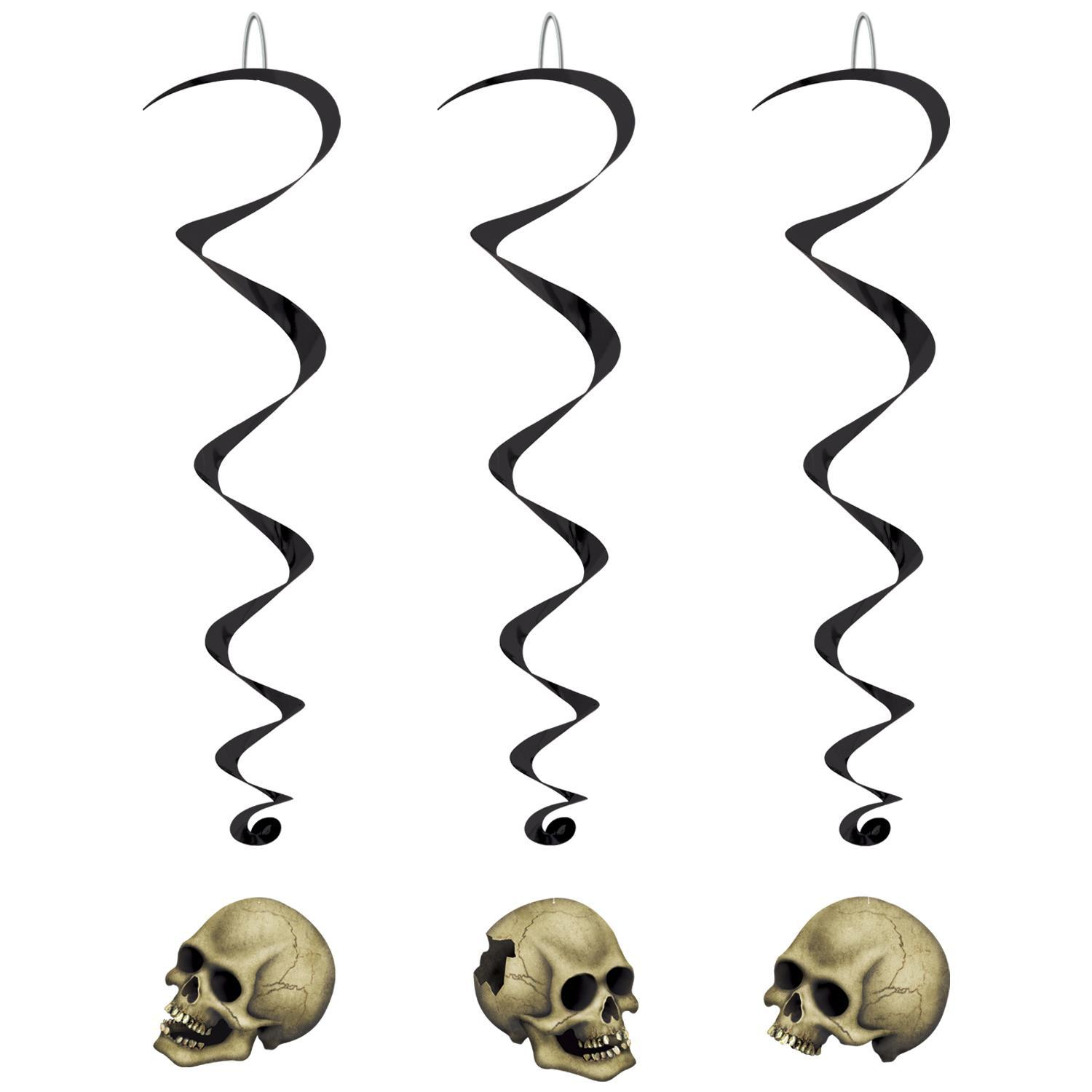 (Pack of 30) Halloween Party Skull Whirls