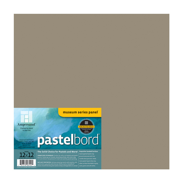 "Ampersand Museum Series Pastelbord Single Board 12x12"" - Sand"