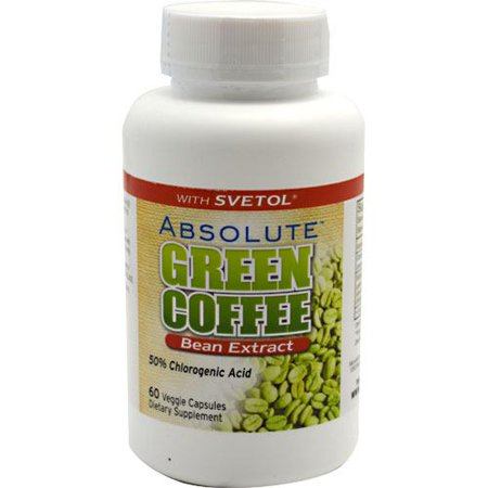 Absolute Nutrition Absolute Green Coffee Bean Extract, 60 Veggie Capsules