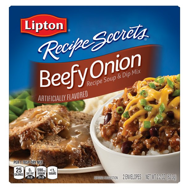 (3 Pack) Lipton Beefy Onion Soup and Dip Mix, 2.2 oz