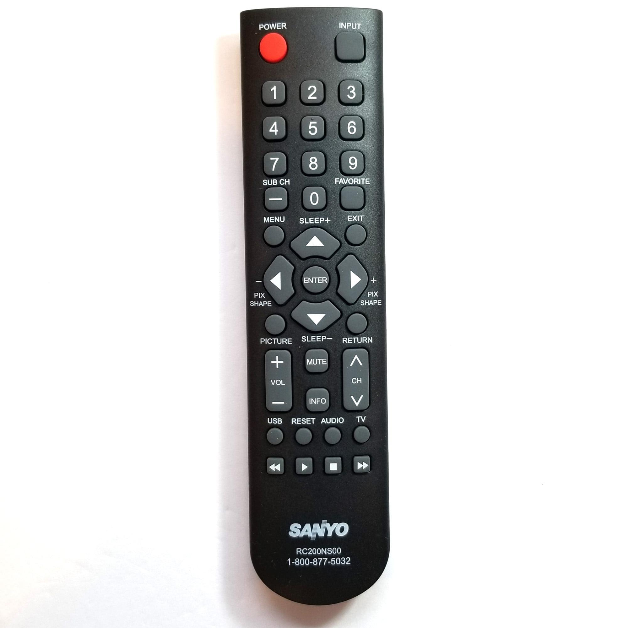 Factory Original Sanyo Rc200ns00 Lcd Led Hd Tv Remote Control For Sanyo Hdtv Television Walmart Com Walmart Com