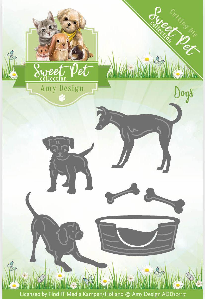 DOG medium die cuts scrapbook cards
