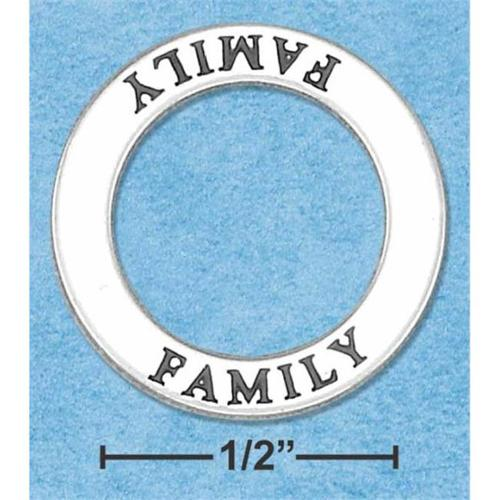 Sterling Silver Family Affirmation Band Pendant