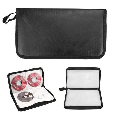 CD Storage Case, EEEKit Portable Large Capacity 80 Disc CD DVD Storage Bag Anti-Scratch Dustproof Organizer Carry Handbag,Carry Handbag