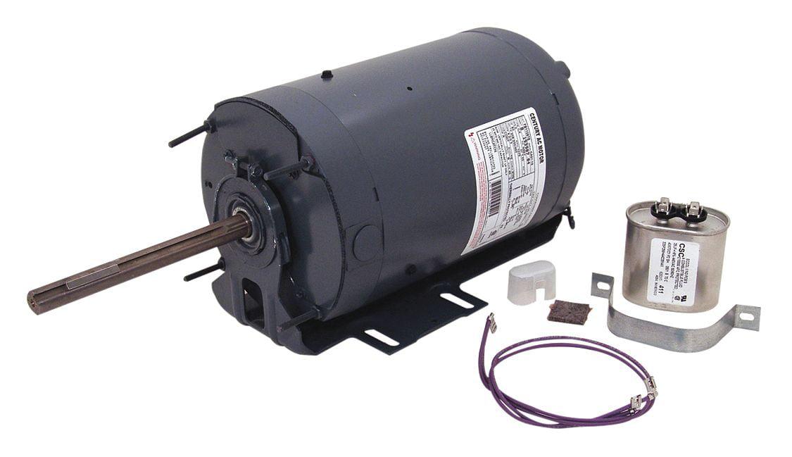 Century 1 HP Condenser Fan Motor, Permanent Split Capacitor, 1075 Nameplate  RPM, 208-230/460 Voltage, Frame 56Y - FB1106