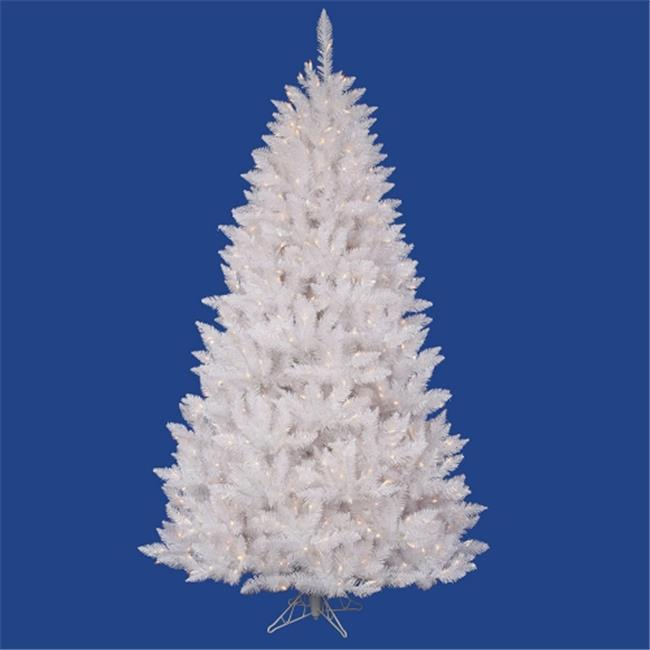 NorthLight 6. 5 ft.  Pre-Lit White Sparkle Spruce Artificial Christmas Tree - Clear Lights