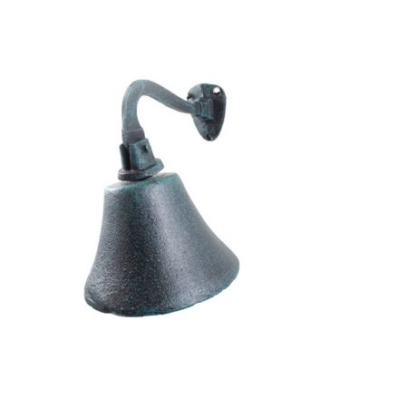 Seaworn Blue Cast Iron Hanging Ship's Bell 6