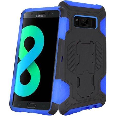 Samsung Galaxy S8+ Case, Samsung Galaxy S8 Plus Case, by SuperCoil Hybrid Hard Premium Kickstand Cover Case For Samsung Galaxy S8+ S8 Plus - Black/Dark Blue