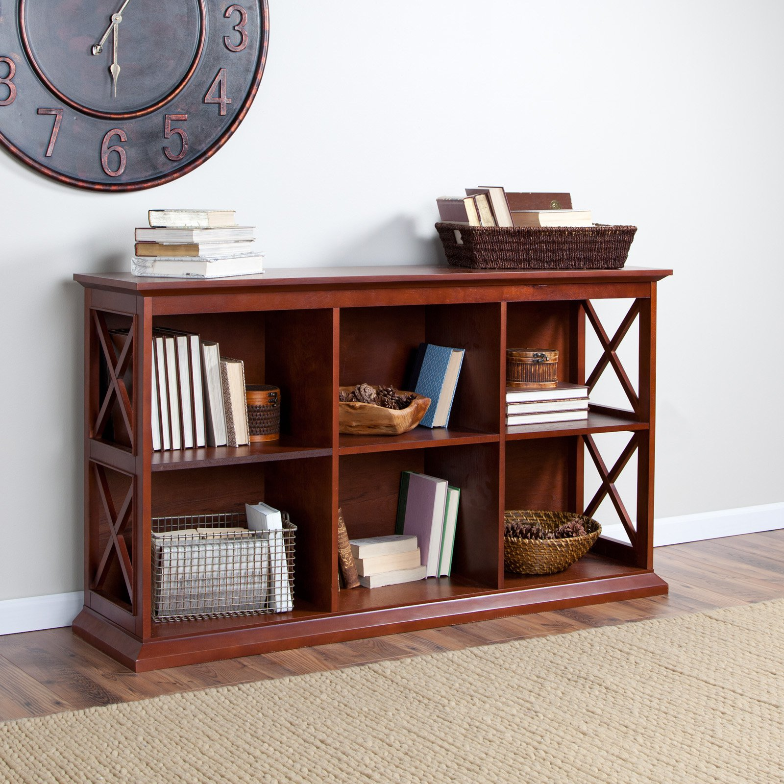 console tv stand wood bookcase shelves storage pin display with espresso bookcases
