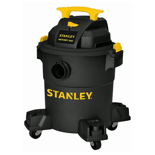 Stanley, SL18116P, 6 Gallon 4 peak horse power Portable Poly Wet Dry Vac with Casters