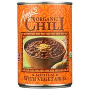 (12 Pack) Amy'S - Organic Medium Chili With Veggies , 14.7 Oz