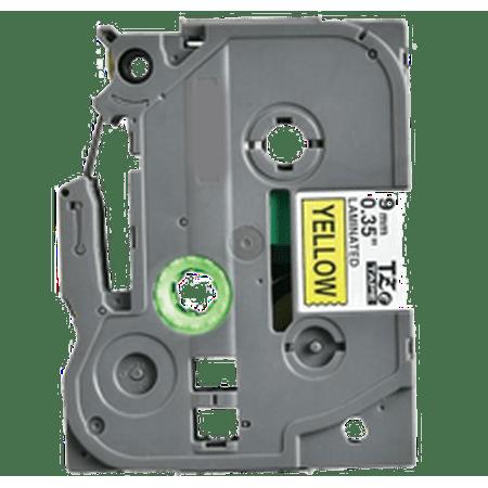 """Zoomtoner Compatible pour Brother PT9500PC BROTHER P-Touch Label Tape TZE-621 9mm (0.375"""") Noir on Jaune - image 1 de 1"""