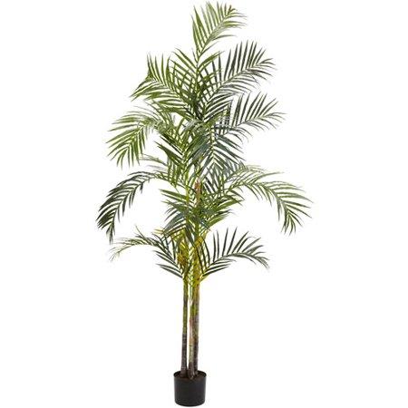 - Nearly Natural Areca Palm Silk Tree, 7 ft.