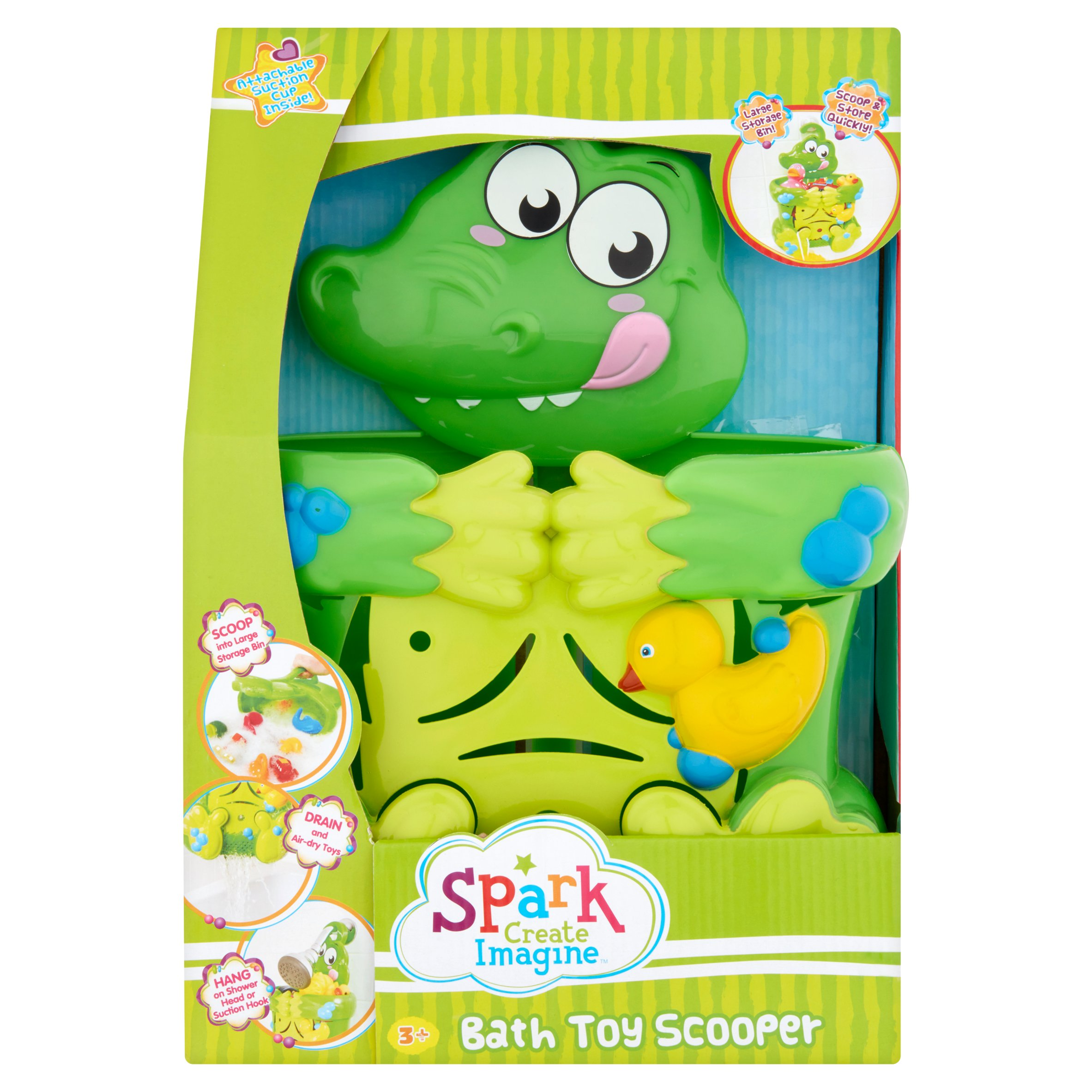 Spark Create Imagine Bath Toy Scooper, Green Alligator