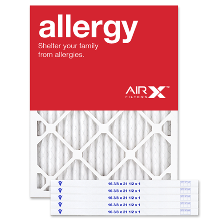 AIRx Filters Allergy 16.5x21.5x1 Air Filter Replacement MERV 11 AC Furnace Pleated Filter,
