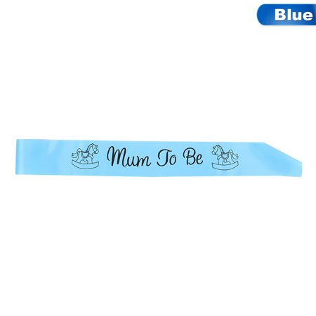 Fancyleo 1 Pc Newborn Baby Party Mum To Be Etiquette Sash Baby Shower Boy Girl Party Decoration Centerpieces ()