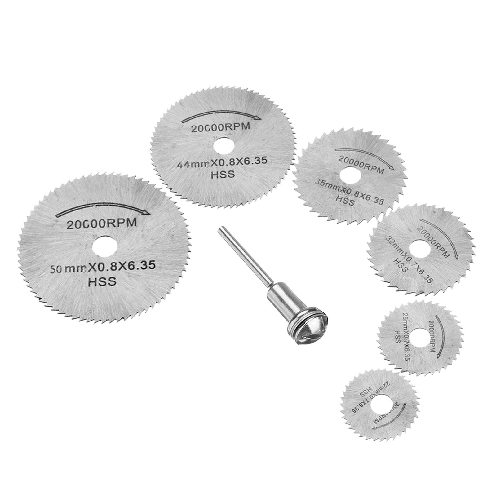 7 pcs Mini Diamond Rotary Cutting Off Saw Blade Wheel Disc Kit Tool 3.2mm Arbors