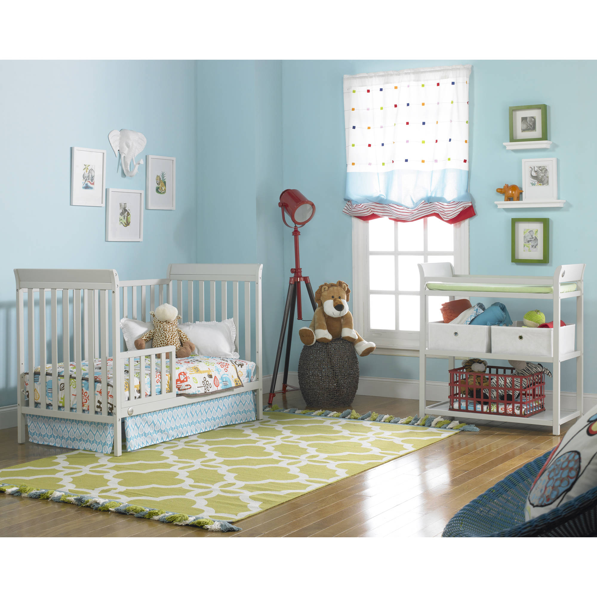 grey furniture nursery. Fisher-Price 3-in-1 Nursery Furniture Set With Mattress Misty Gray - Walmart.com Grey
