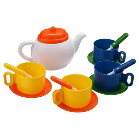 Procyberstore Littler Kids Pretend Play Kitchen Set Tea Coffee Dishes Cup Spoon 13 Pieces/ Set cbst