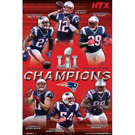 24x36 Super Bowl LI - Champions](Super Bowl Decor)