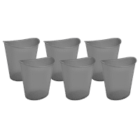Sterilite 3 Gal Oval Wastebasket, Gray Flannel Tint (Available in Case of 6 or Single Unit)