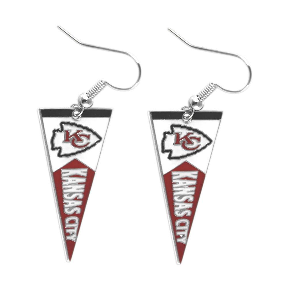 NFL Sport Team Kansas City Chiefs Pennant Dangle Earring