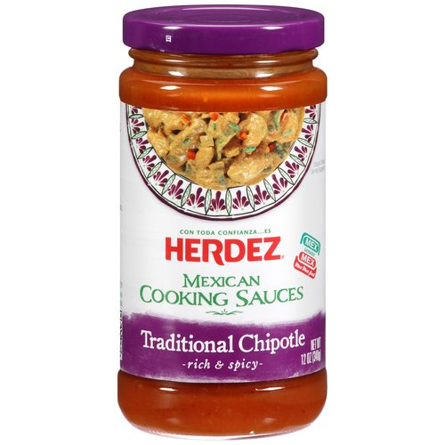Herdez Traditional Chipotle Cooking Sauce, 12 oz