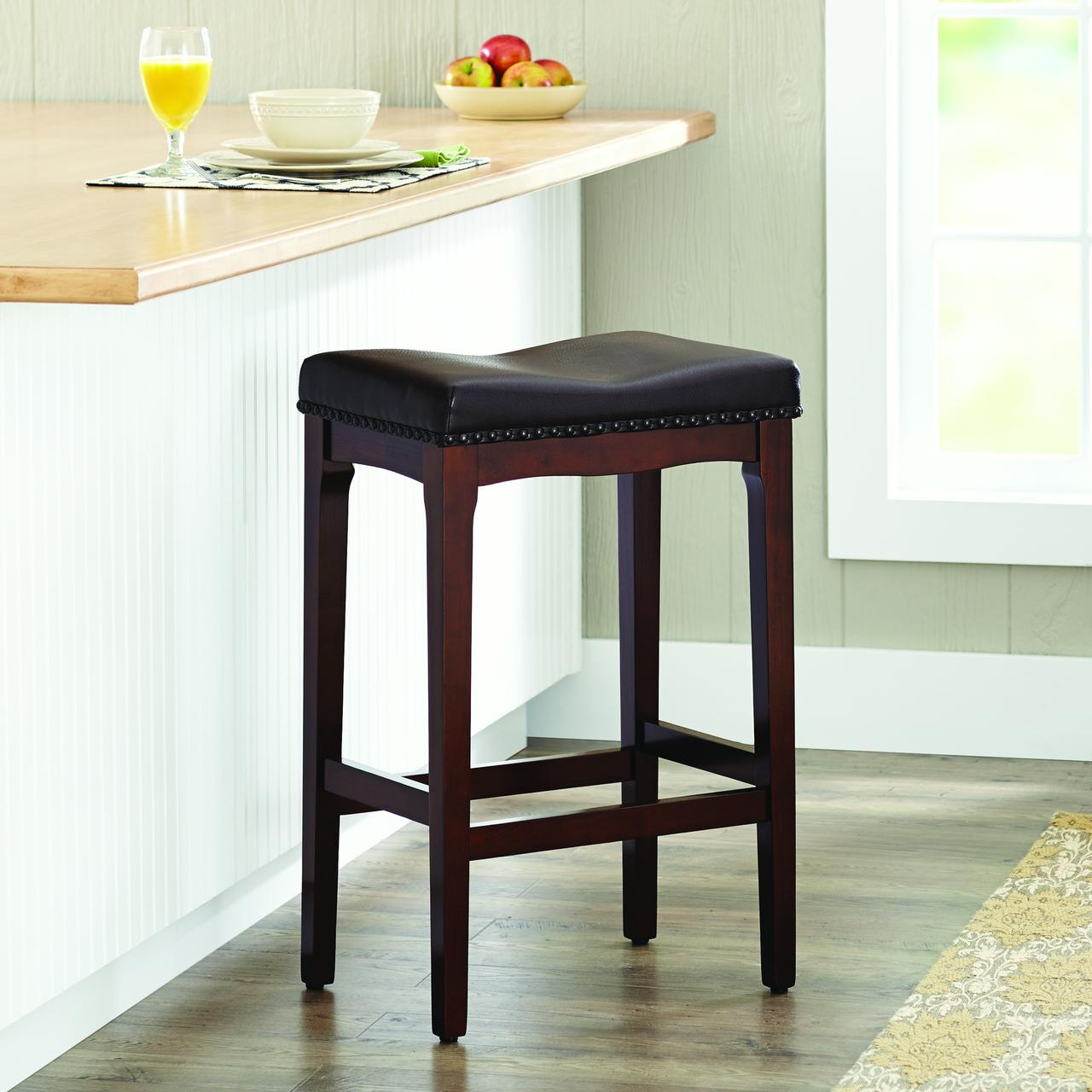 Better Homes and Gardens 29  Padded Saddle Stool Cherry & Better Homes and Gardens 29