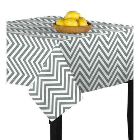 54 X 54 Tablecloth - Gray Chevron Tablecloth 54