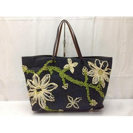 Fendi Floral Denim Shopper Tote 866848