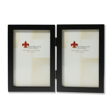 4x6 Hinged Double Black Wood Picture Frame - Gallery Collection ...