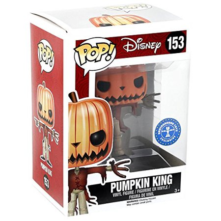 FUNKO Pop! Disney Pumpkin King #153 Hot Topic Exclusive Glows In The Dark / Nightmare Before Christmas Vinyl Figure - Disney Pumpkin
