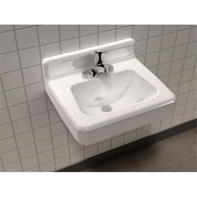"SONG S-7020-3-4-70 Lavatory Sink in White with 4"" (3 holes) Faucet Holes"