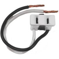 Outlet 2 Prong Wht 2 Wire Lead 61015